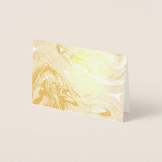 Golden marbled stylish chick glamour design, girly foil card
