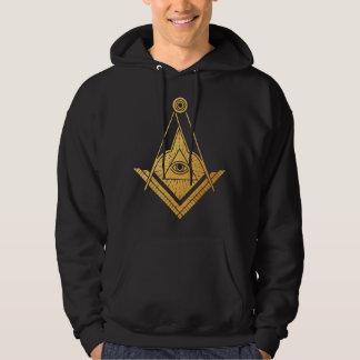 Golden Masonic Symbol men hoodie