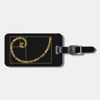 Golden Mean, Fibonacci Spiral Luggage Tag