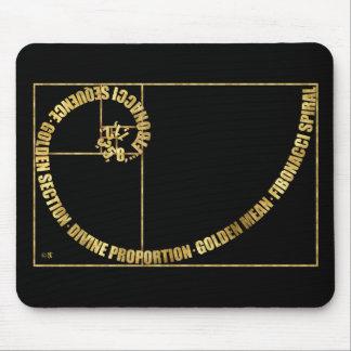 Golden Mean, Fibonacci Spiral Mouse Pad