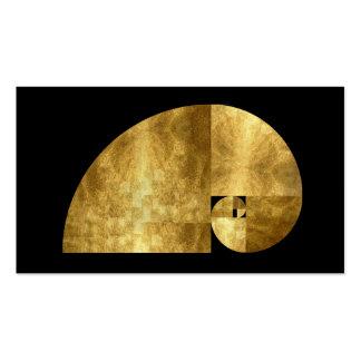 Golden Mean, Gold Leaf Image Business Card Templates