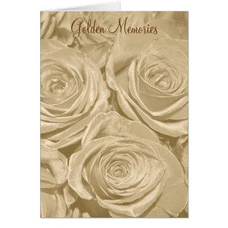 Golden Memories Rose Anniversary Card