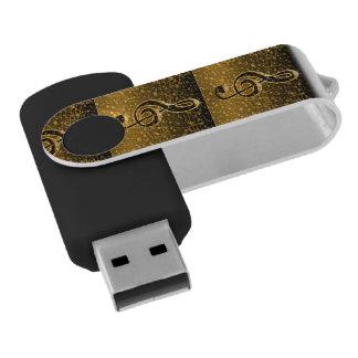 Golden Memories_ Swivel USB 2.0 Flash Drive