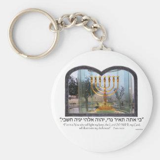 Golden Menorah Key Ring