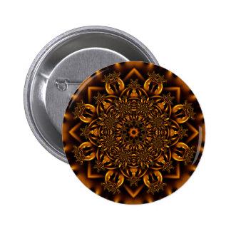 Golden metalwork button