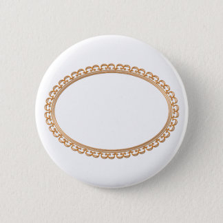 Golden Mirror Frame Template - Add your TXT or IMG 6 Cm Round Badge