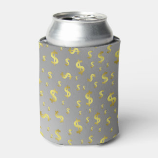 golden, money, dollar, sign, currency, symbol, can cooler