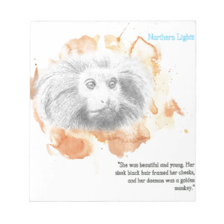 Golden Monkey Daemon - His Dark Materials Notepad