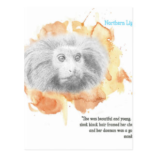 Golden Monkey Daemon - His Dark Materials Postcard
