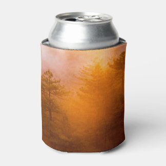 Golden Morning Glory Forest Can Cooler