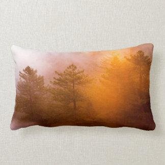 Golden Morning Glory Forest Lumbar Pillow