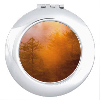 Golden Morning Glory Forest Mirror For Makeup