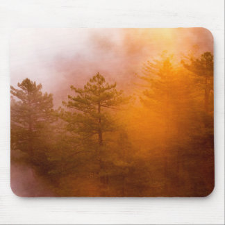 Golden Morning Glory Forest Mouse Pad