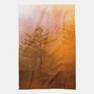 Golden Morning Glory Forest Tea Towel