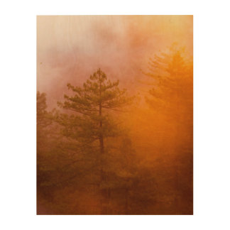 Golden Morning Glory Forest Wood Wall Art