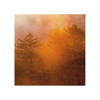 Golden Morning Glory Forest Wood Wall Art