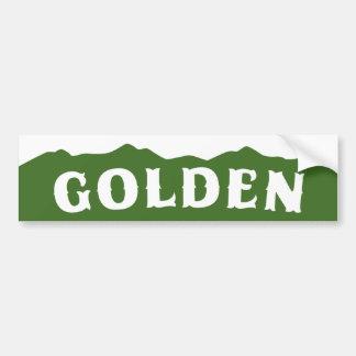 Golden Mountains Bumper Sticker