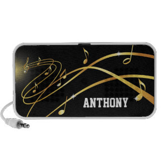Golden music explosion personalized speakers