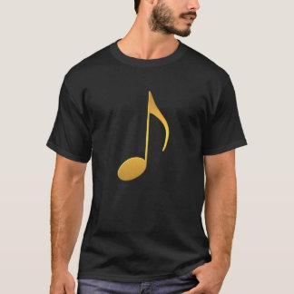 Golden Music Note T-Shirt