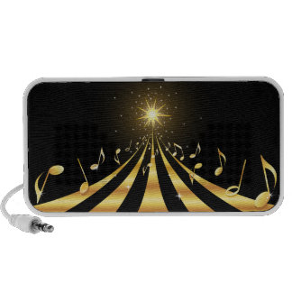 Golden musical explosion portable doodle speakers