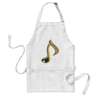 Golden Musical Note Standard Apron