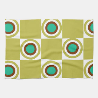 Golden Mustard Diner Dots Tea Towels