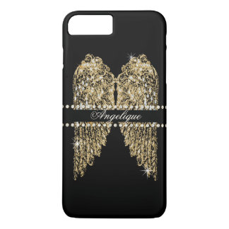 Golden n Diamond Jewel Look Angel Wings Bling iPhone 7 Plus Case