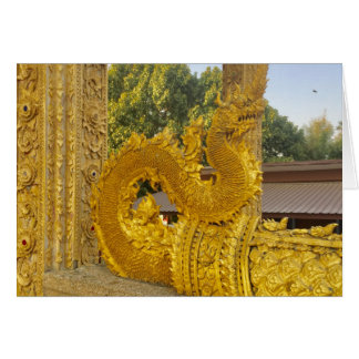 Golden Naga in Chiang Mai, Thailand Card