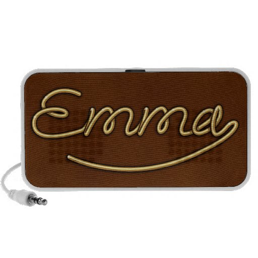 "Golden Name ""Emma"" PC Speakers"