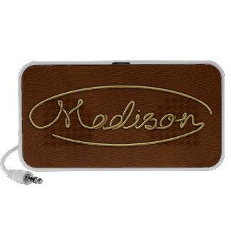 """Golden Name """"Madison"""" Laptop Speaker"""