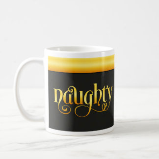 Golden Naughty Snowflake Coffee Mug
