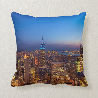 Golden New York City Skyline Cushion