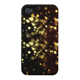 Golden Night Party Lights Bokeh iPhone 4 case