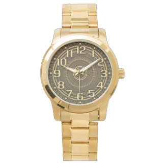 GOLDEN NUMBERS | with slight 3d illusion Watch
