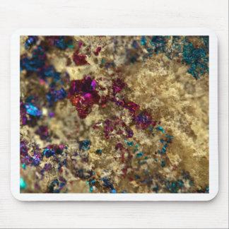 Golden Oil Slick Quartz Mouse Pad