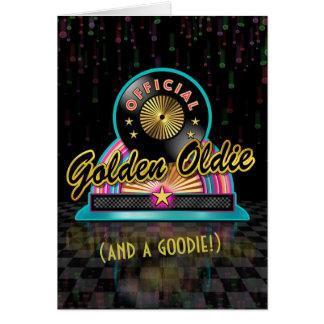 Golden Oldie Birthday Card