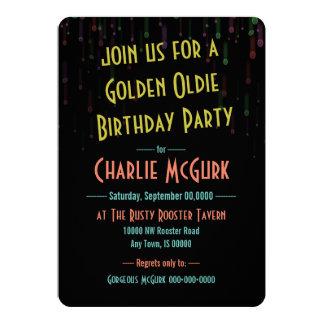 Golden Oldie Birthday Party Invitation