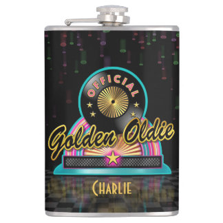 Golden Oldie Party Flask