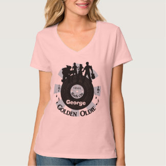 Golden Oldie Vinyl Records Rock On Personalized T-Shirt