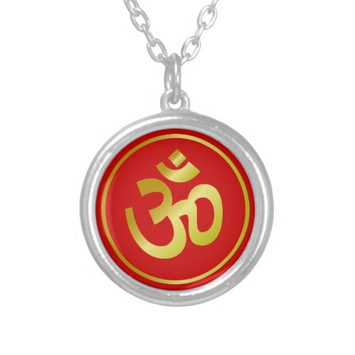 Golden Om Sign Personalized Necklace