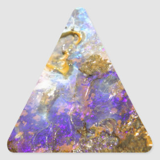 Golden Opal Triangle Sticker