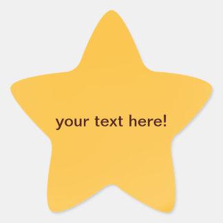 Golden orange - star stickers