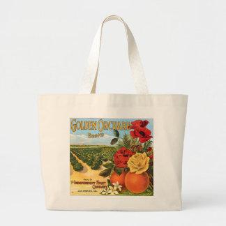 Golden Orchard Los Angeles Fruit Crate Label Canvas Bag