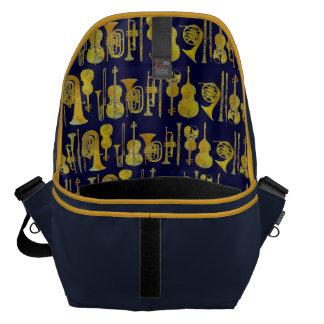 Golden Orchestra Interior Design Courier Bag