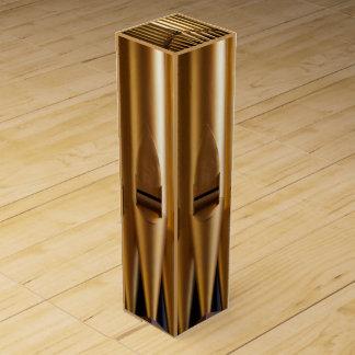 Golden organ pipes wine box