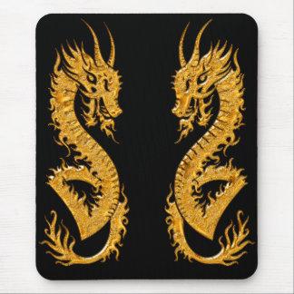 Golden oriental dragon 02 mouse pad