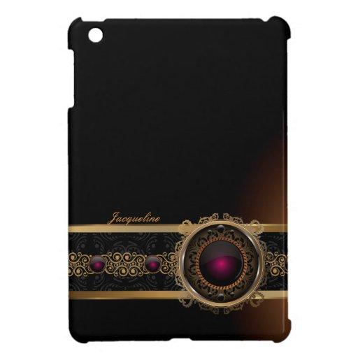 Golden Ornament Luxury Purple Diamon iPad Case Cover For The iPad Mini
