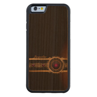 Golden Ornament Luxury Purple Diamond Eye Name Carved Cherry iPhone 6 Bumper Case