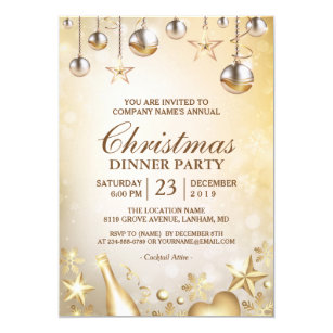work christmas party invitation
