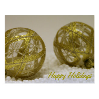 Golden Ornaments Postcard